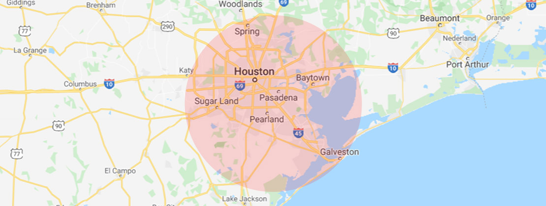 Service Area Map of Tile Busters Houston